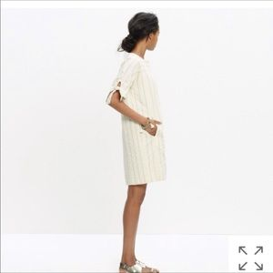Madewell shift dress cream stripe
